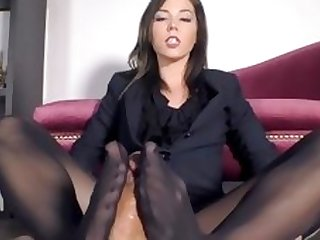 Pantyhose Footjob For The Job and Your Salary