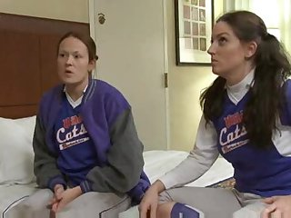 Softball playing babes have lesbian sex