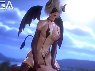 3D succubus riding dick like the night stalker