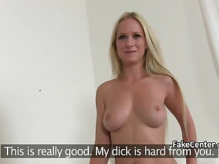 Shy housewife fucked at casting for porn movie