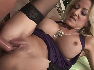 Cougar in stockings want young dick (TOP MATURE)