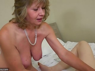 Teen masturbating when mature joining the party