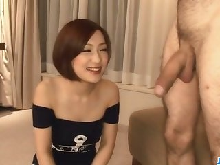 Nene Iino having a big cock throating her well
