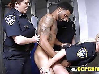 Sexually Attractive Cops Investigate Black Male Stick