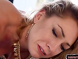 Gagged Submissive Babe Getting Anally Fucked