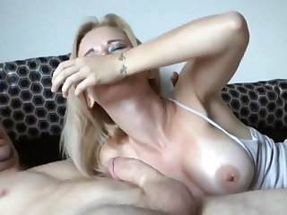 Stepmom catches son jerking off
