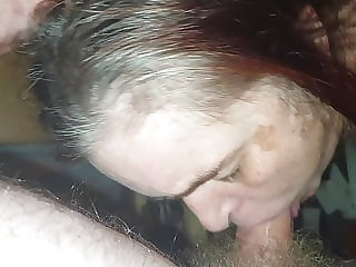 Uk granny sub slut drinking the piss from my cock