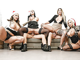 LETSDOEIT - Hot Office Fuck Fest Christmas Party - Part 2.