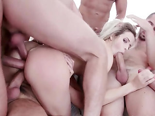 Surprisingly Tight Ass Takes Two Cocks Ria Sun DAP