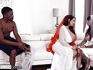 BBW Bride With HUGE Tits Has The Fuck Of Her Life