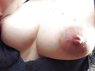 Wife lover No. 6 grabs and massages super beautiful boobs