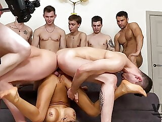 EIGHT HOT GUYS FUCKED HARD AND PISSED OFF MONICA FOX 9