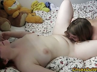 Reality lesbo licks cunt