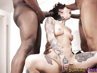 Kinky goth throating bbc