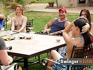 Romantic And Real Swinging Couples