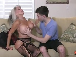 Hot Cougar Stepmom Fucks Her Young Son