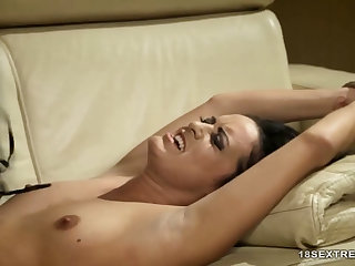 Tied Gal Treated With Sex Toys