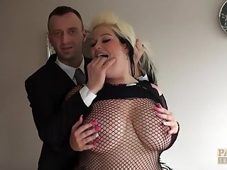 PASCALSSUBSLUTS - Naughty BBW Sindy endures rough pounding