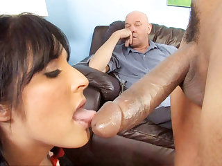 Chelsie Rae Gets Her Pussy Stretched By A Big Black Cock In Front Of Ger erotic