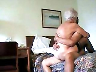 Horny white haired granny gets pounded in many positions