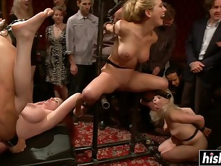 Naughty chicks got their pussies fucked