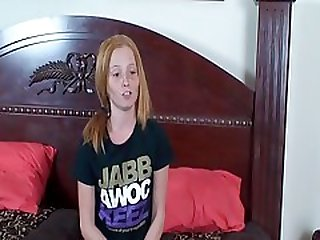 Freckled Face Teen CFNM Handjob