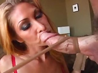 She is a bigtitted goddess giving a footjob