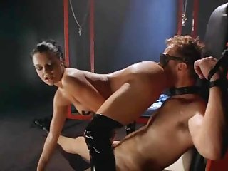 Kinky scene in the dungeon with good sex