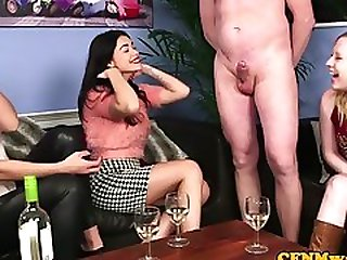 Classy Euro Teases Sub Guy During CFNM
