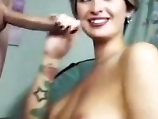 Short Haired Girl Having Fun At Deepthroat