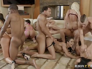 Brazzers House Season 3 Ep3 Abella Danger hosts an insane orgy fuck fest