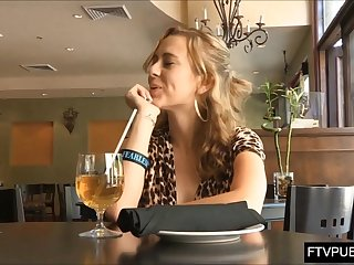 upskirt masturbation in cafe full of people