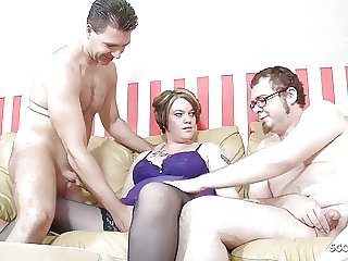 German Wife made Husband to Bi-Sex Cuckold at Threesome