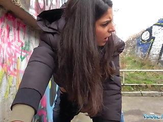 Public Agent Hot creampie climax after outdoor steamy sex