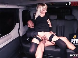 FuckedInTraffic - Teen Babe Katy Rose Rough SEX in Czech Taxi - VipSexVault