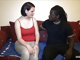 Real German BBW Street Whore First BBC Dick for Cash