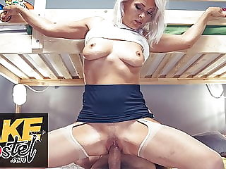 Fake Hostel real mature milf with nice natural tits fucks