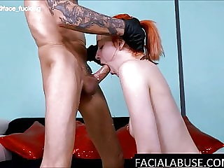 Facefucked 18 Year Old Struggles During Her First Anal & ATM