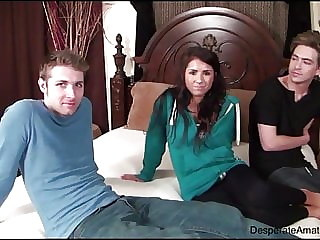 Casting Danielle aka Evi Fox Desperate Amateurs threesome