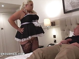 You just have to fuck the big ass & tits room maid