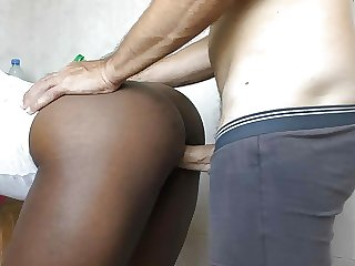 African maid in the kitchen for creampie amateur