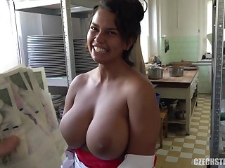 Busty Czech housewife gives blowjob and rides in POV amateur porn