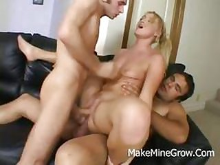 anal, blowjob, threesome, blonde, hardcore, dp, facial, rough