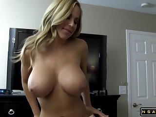 Big Breasted Amateur Canadian Blonde Milf Spreads Her Voluptuous Legs For A POV Pecker