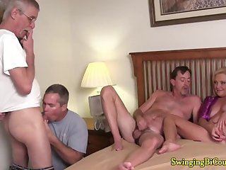 Some Guys Like Sucking Cock with Hot Girls Watching