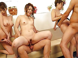 Japanese chick Rika Nagasawa had an orgy, uncensored