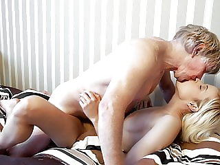 Grandpa has sweet sex with his young 19 year old girlfriend