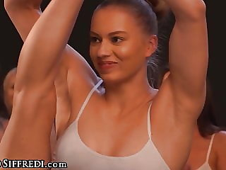 Steamy Wet Yoga Class Orgy With Rebecca Volpetti